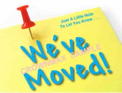 2577 We've Moved Postcard