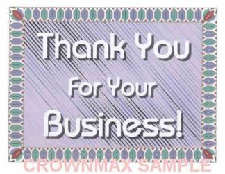 2575 Thank You For Your Business