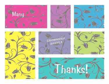2570 Many Thanks Postcards
