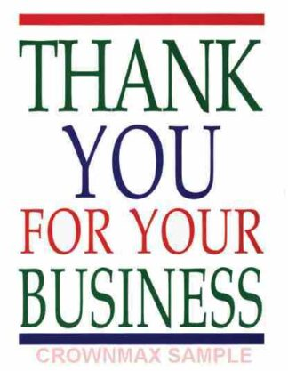 2588 Thank You For Your Business
