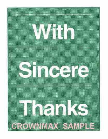 2587 Sincere Thanks