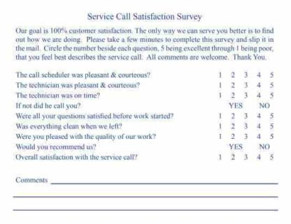 2503 Customer Survey Postcard