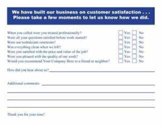 2502 Customer Survey Postcard