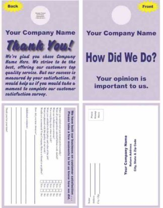 2501 Customer Survey Doorhanger