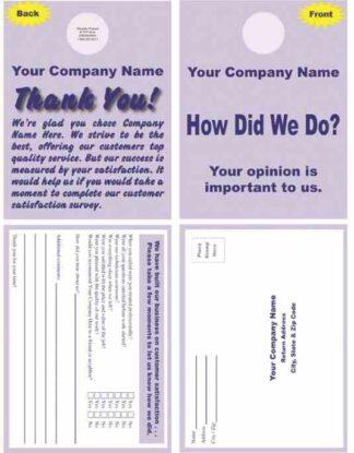2501 Customer Survey Doorhanger