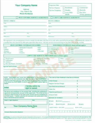 2174 Pest Control/ Lawn Service Agreement