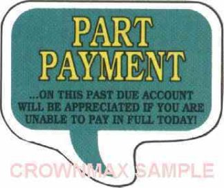 1634 Part Payment Label