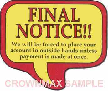 1635 Final Notice Label