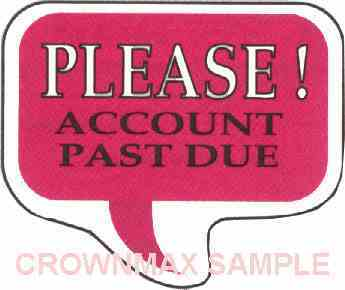 1633 Account Past Due Label