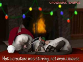 1244 Not a Creature .... Christmas Cards