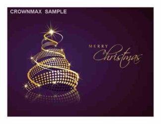 1239 Merry Christmas - gold tree
