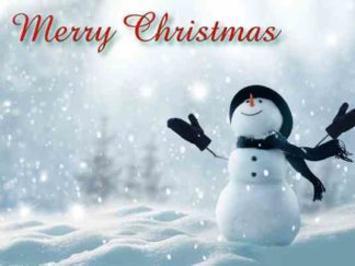 1276 Merry Christmas - Snowman