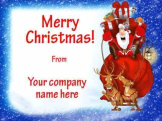 1246 Merry Christmas - Santa & Sleigh Christmas Cards