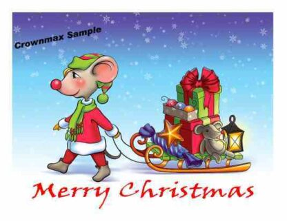 1225 Merry Christmas - Mouse w-sled