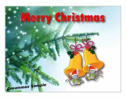 1223 Merry Christmas - Mice w-bells