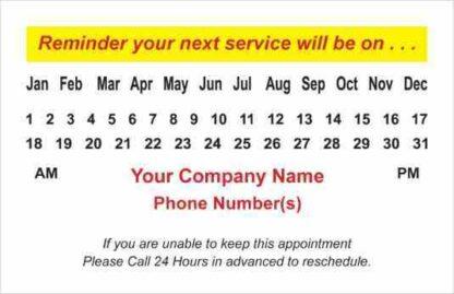 1020 Service Reminder Cards