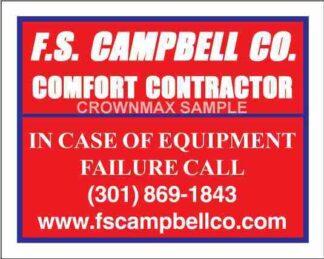 0053 HVAC Service Label