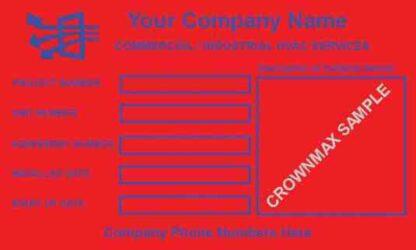 0052 Unit Information Label