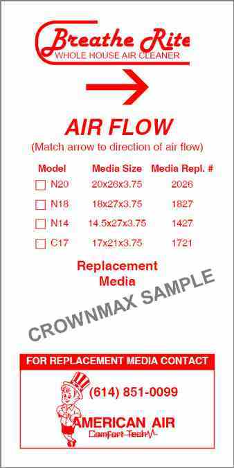 0736 HVAC Media Replacement Label