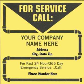 0141 Plumbing Service Label