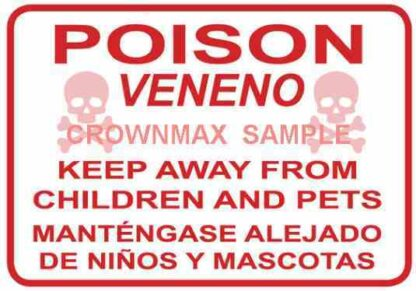 0115 Poison Warning Label