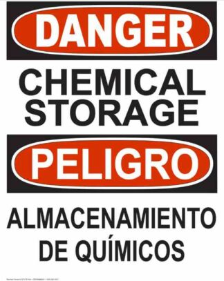 21278 Danger Chemical Storage Bilingual Sign