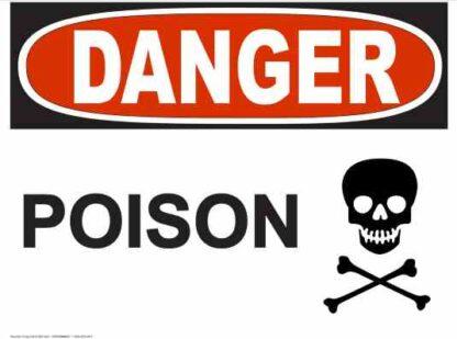 21266 Danger Poison Sign