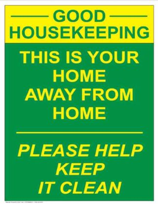21852 Good Housekeeping This Is Your Home Keep It Clean