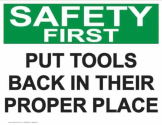 21851 Safety First Put Tools Back On Their Proper Place
