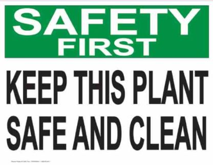 21849 Safety First Keep This Plant Safe And Clean
