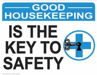 21863 Good Housekeeping Is The Key To Safety Key Logo