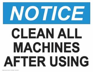 21834 Notice Clean All Machines After Using