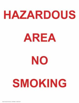 21333 Hazardous Area No Smoking Vertical