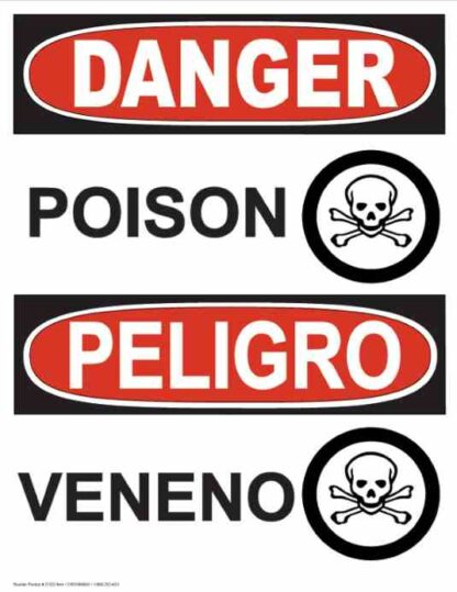 21323 Danger Poison with Poison Symbols Bilingual
