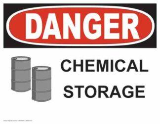 21322 Danger Chemical Storage with Barrel Symbols