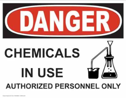 21321 Danger Chemicals In Use with Chemical Symbol
