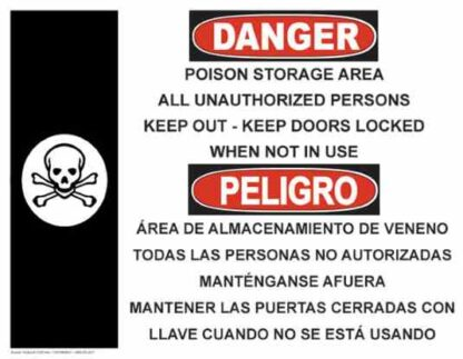 21320 Danger Poison Storage with Poison Skull Bilingual