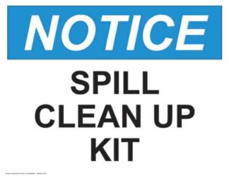 21319 Notice Spill Clean Up Kit