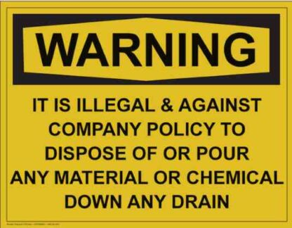 21316 Warning It Is Illegal & Against Company Policy