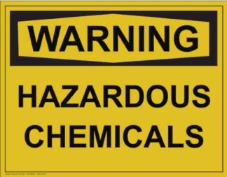 21314 Warning Hazardous Chemicals