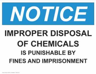 21328 Notice Improper Disposal Of Chemicals