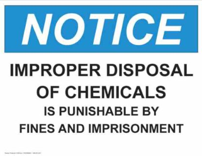 21328 Notice Improper Disposal Of Chemicals