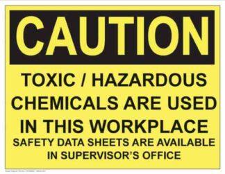 21305 Caution Toxic - Hazardous Chemicals MSDS Available