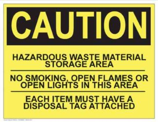 21299 Caution Hazardous Waste-No Smoking