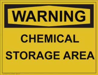 21310 Warning Chemical Storage Area