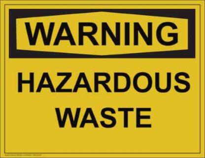 21309 Warning Hazardous Waste