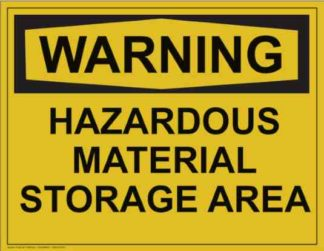 21308 Warning Hazardous Material Storage Area