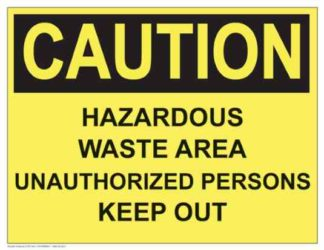 21297 Caution Hazardous Waste Area