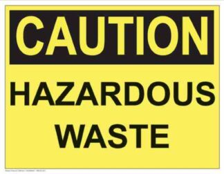 21296 Caution Hazardous Waste (Yellow)