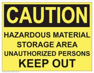 21295 Caution Hazardous Material Storage Area